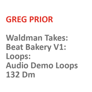Waldman Takes: Beat Bakery V1: Loops: Audio Demo Loops